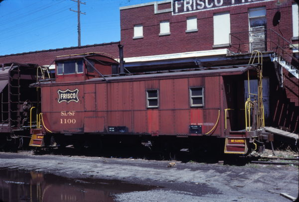 Caboose 1100 at Muskogee, Oklahoma on April 15, 1979 (Allan Ramsey)