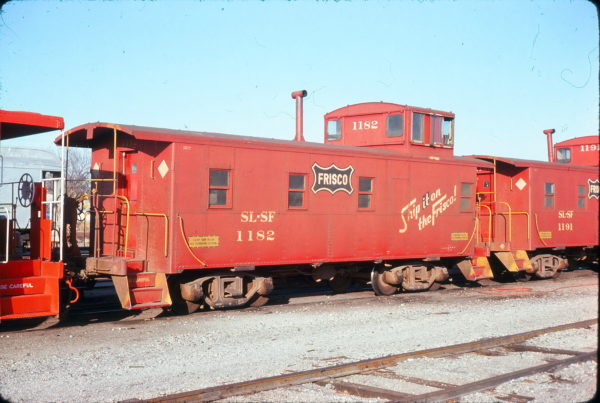 Caboose 1182 at Enid, Oklahoma on November 16, 1975 (Allan Ramsey)