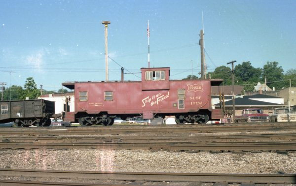 Caboose 1722 at Thayer, Missouri on June 11, 1979 (R.R. Taylor)