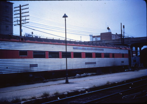 Cafe Lounge Car 1652 (Huntleigh) at Springfield, Missouri (date unknown) (Mike Condren)