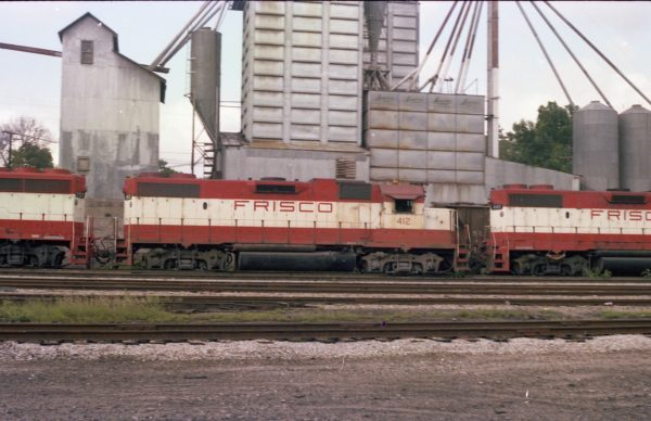GP38-2 412 at Thayer, Missouri on August 1, 1979 (R.R. Taylor)