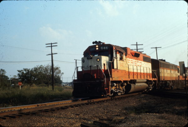 GP38AC 646 at Claremore, Oklahoma in August 1973