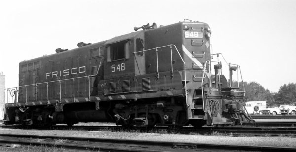 GP7 548 at Springfield, Missouri on August 20, 1967