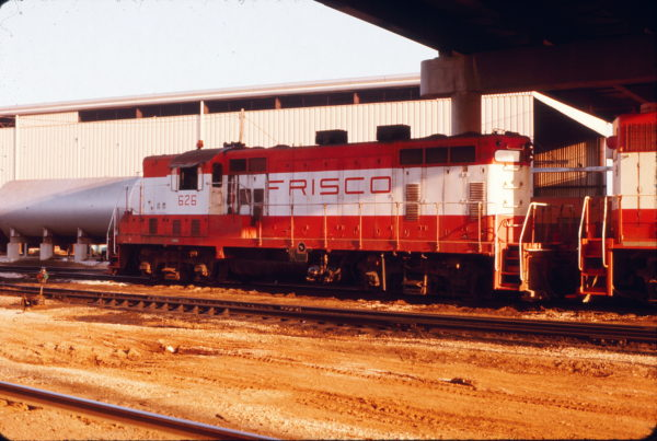 GP7 626 at Springfield, Missouri in June 1975