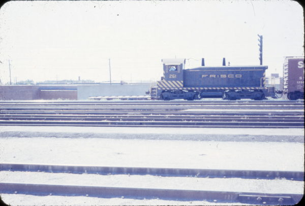 NW2 261 at Wichita, Kansas in August 1958