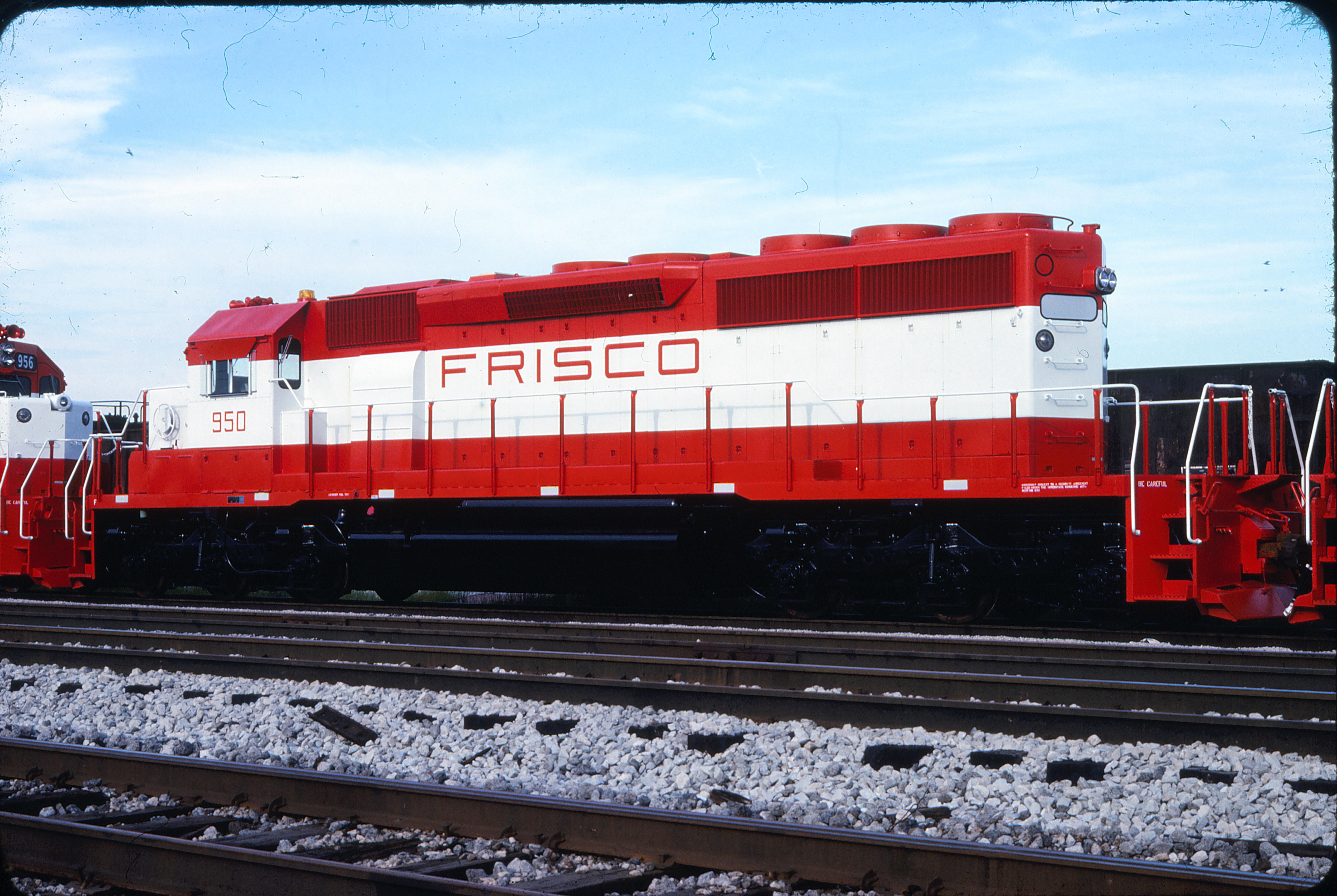 SD40-2 950 at East Hazel Crest, Illinois on July 17, 1978