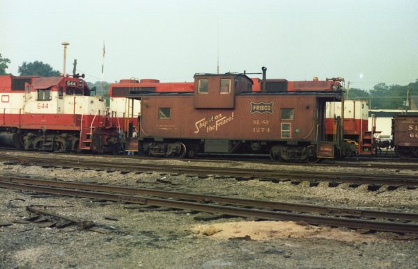 Caboose 1274 at Thayer, Missouri on August 9, 1979 (R.R. Taylor)