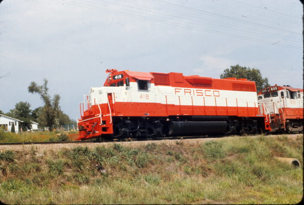 GP38-2 418 at Richland, Missouri in August 1973