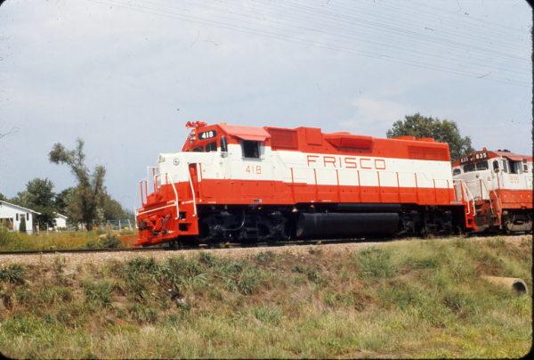 GP38-2 418 at Richland, Missouri in August 1973
