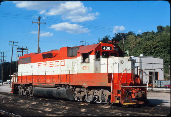 GP38-2 430 at Kansas City, Missouri on July 18, 1976 (James F. Primm II)