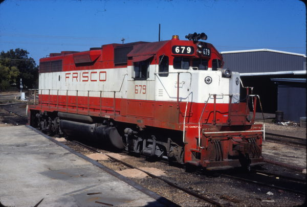 GP38-2 679 at Columbus, Mississippi on October 17, 1976 (J. Harlan Wilson)