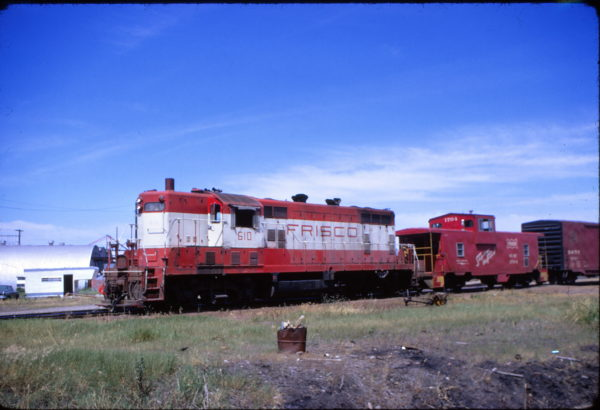 GP7 610 and Caboose 1704 (location unknown) in July 1973