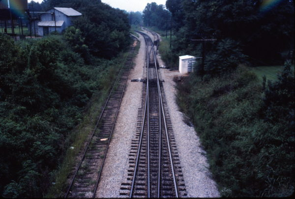 Holly Springs, Mississippi - Looking north from Salem Avenue Bridge in August 1982