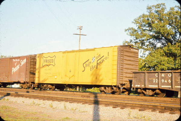 Boxcar 52014 at Bald Knob, Arkansas in July 1966