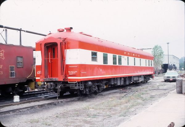 Business Car 2 in 19th St Yard, Kansas City, Mo in August 1976