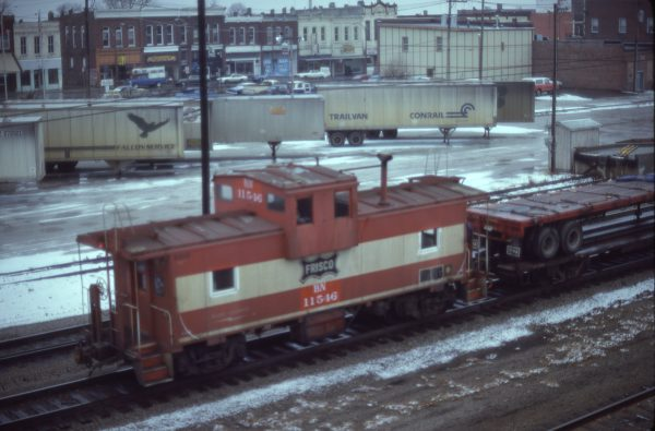 Caboose 11546 (Frisco 1218) at Springfield, Missouri in January 1981