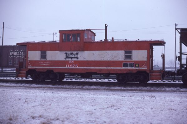 Caboose 11675 (Frisco 1700) (location unknown) in January 1981