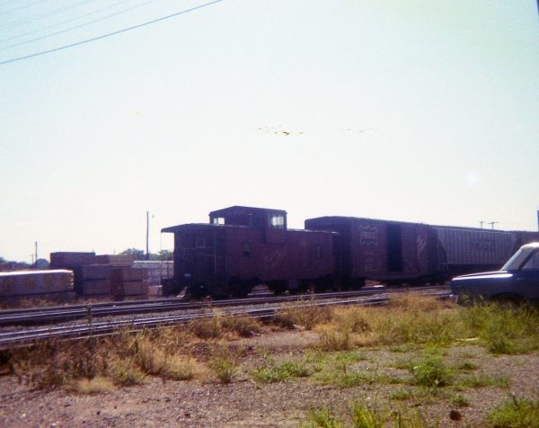 Caboose 1406 at Thayer, Missouri on June 13, 1978 (R.R. Taylor)