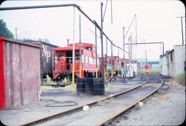 Caboose 1718, Kansas City, Missouri in August 1976