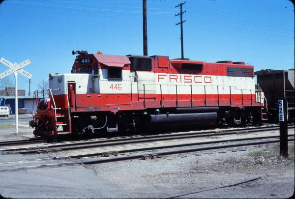 GP38-2 446 at Muskogee, Oklahoma on April 15, 1979 (Allan Ramsey)