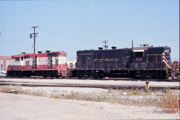 GP7s 502 and 523 (location unknown) in September 1972