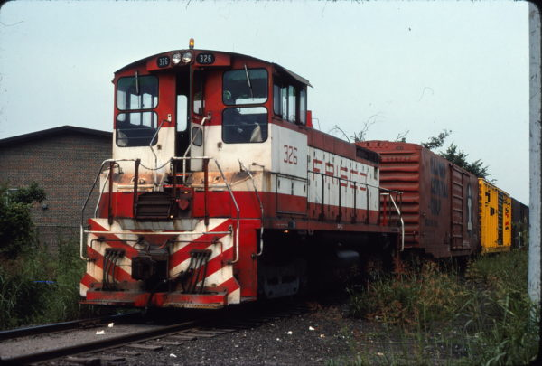 SW1500 326 at Birmingham, Alabama on June 20, 1976