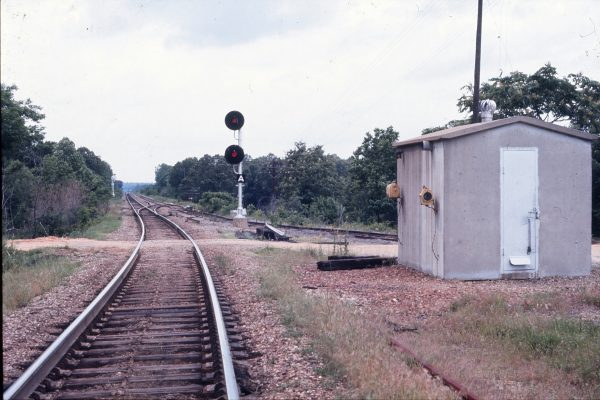 Tours Siding at Holly Springs, Mississippi (Looking North) (date unknown)
