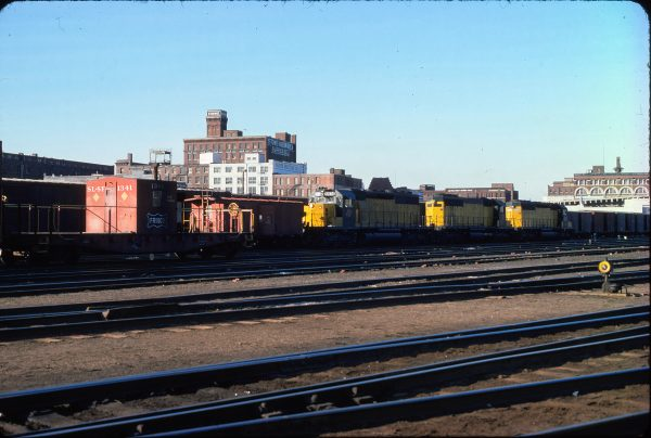 Transfer Caboose 1341 Kansas City Mo in May 1975