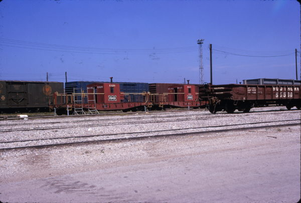 Transfer Cabooses 1320 and 1317 (location unknown) in May 1974