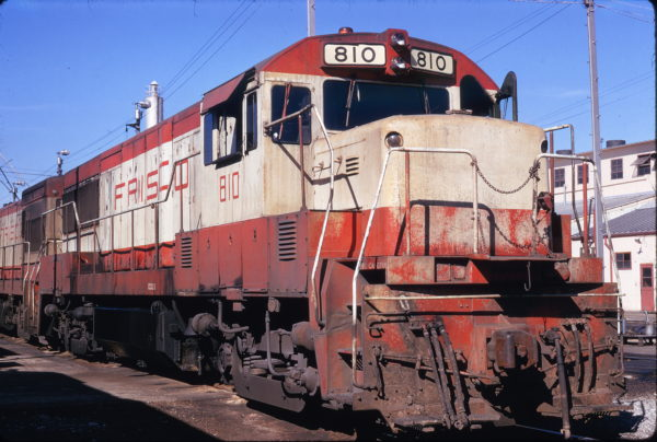 U25B 810 at Memphis, Tennessee on January 28, 1974