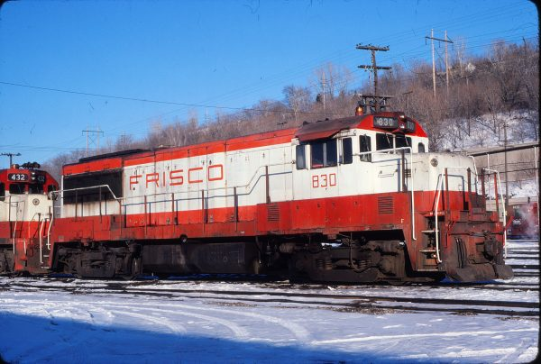 U25B 830 at Kansas City, Missouri on February 17, 1980