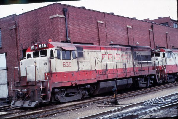 U30B 835 at Lindenwood Yard St. Louis, Mo (date unknown)
