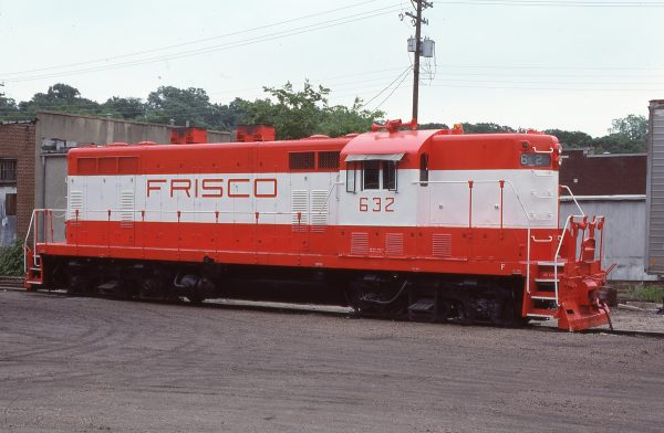 GP7 632 at Fayetteville, Arkansas on June 1, 1979 (P.L. Strang)