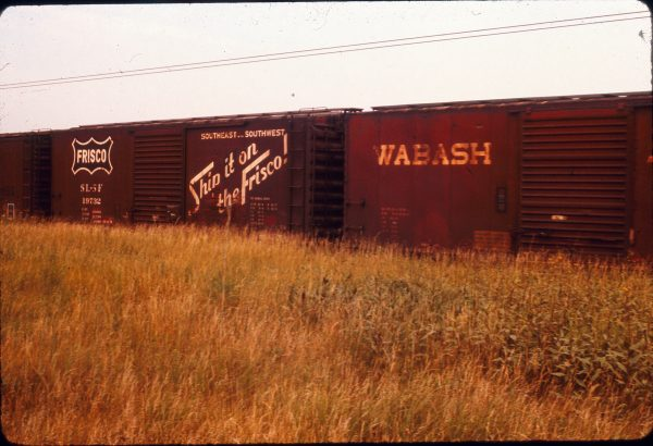 Boxcar 19732 at Shefield, Illinois in August 1973
