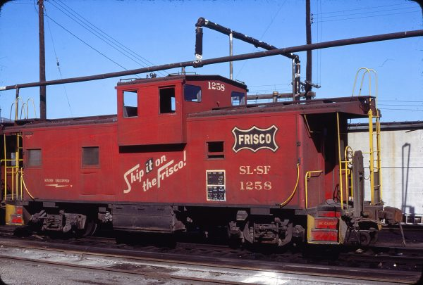 Caboose 1258 at Kansas City, Missouri on July 4, 1977 (John C. Benson)