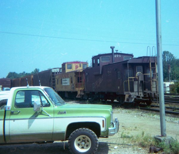 Caboose 1275 at Thayer, Missouri in July 7, 1978 (R.R. Taylor)