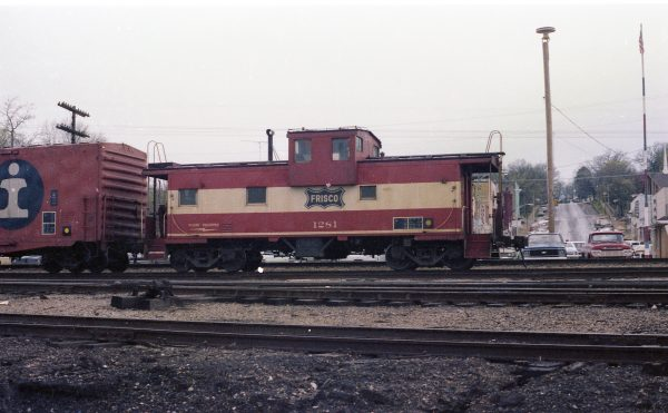 Caboose 1281 at Thayer, Missouri on April 13, 1979 (R.R. Taylor)