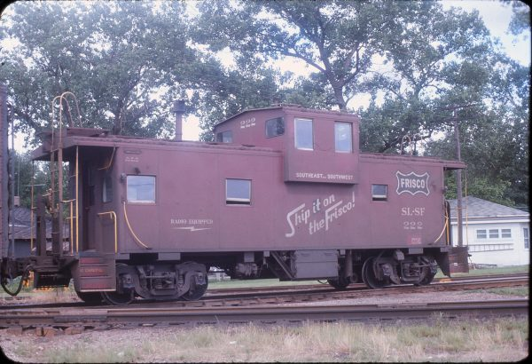 Caboose 222 at Neodesha, Kansas in June 1967