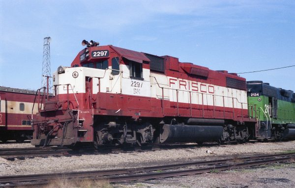 GP38-2 2297 (Frisco 442) at Thayer, Missouri on March 21, 1982 (R.R. Taylor)