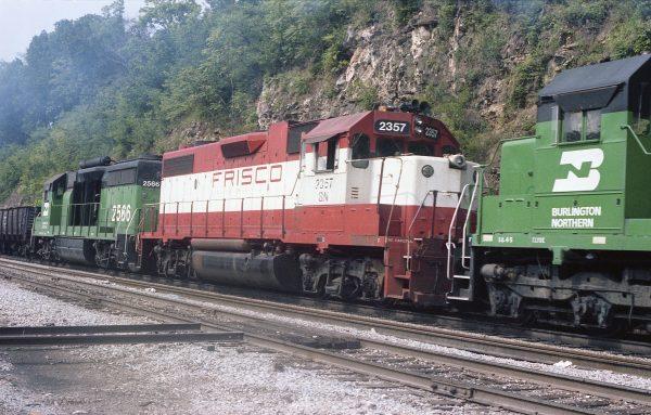GP38-2 2357 (Frisco 687) at Thayer, Missouri on July 24, 1982 (R.R. Taylor)