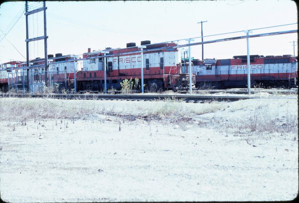 GP7 617 and GP35 702 Springfield, Missouri in October 1978