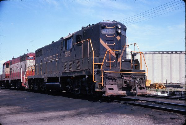 GP7s 505 and 522 Enid, Oklahoma in July 1974