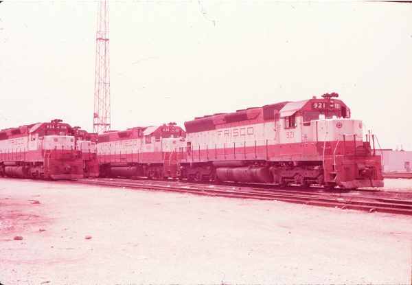 SD45 934, GP38-2 438 and SD45 921 (location unknown) in September 1976