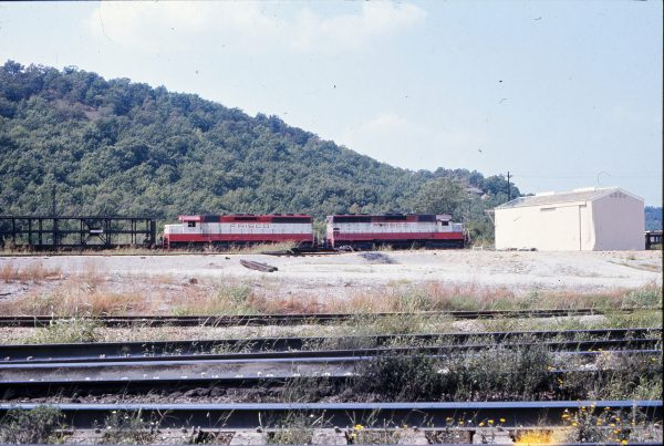 SD45s 907 and 915 (location unknown) in September 1972