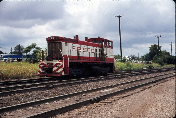 SW1500 344 at Memphis, Tennessee in June 1973