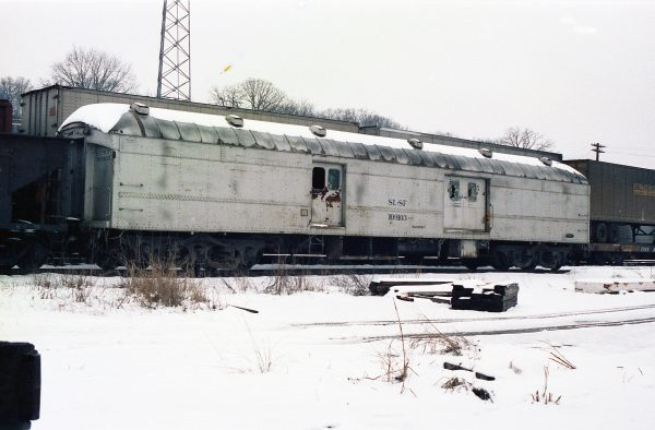 Work Car 109103 at Thayer, Missouri on January 23, 1983 (R.R. Taylor)