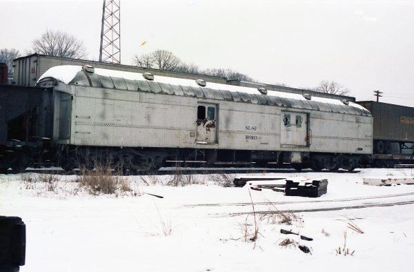 Work Car 109103 at Thayer, Missouri on January 23, 1983 (R.R. Taylor)