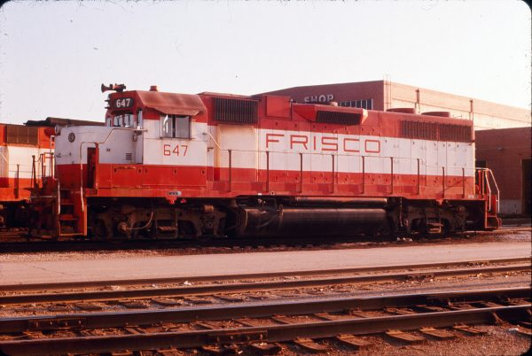 GP38AC 647 at Springfield, Missouri in June 1975