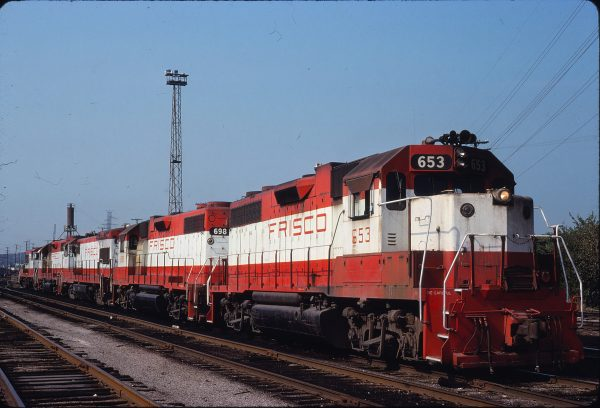 GP38AC 653 and GP38-2 698 at St. Louis, Missouri on September 1, 1980 (Warren Opalk)
