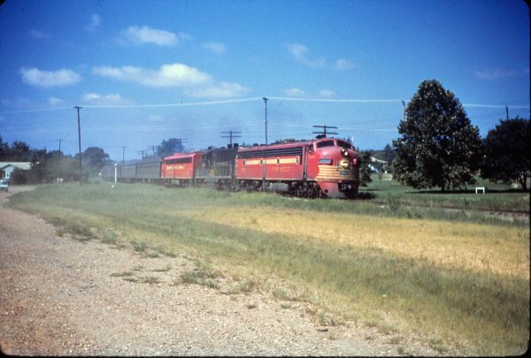 E7A 2002 (Comanche) at Van Buren, Arkansas on August 19, 1963 on a troop train (Mike Condren)